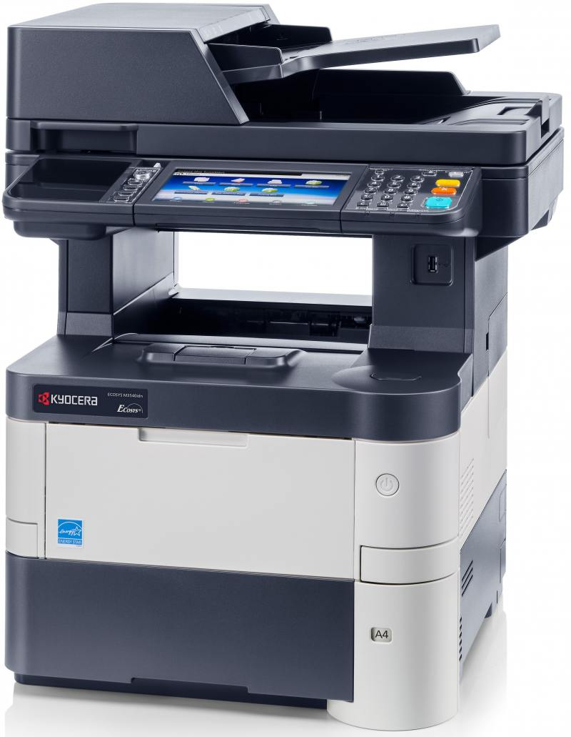 МФУ Kyocera Ecosys M3540IDN A4, 40 стр/мин, 600 листов, duplex, Fax, USB, Ethernet, 1GB