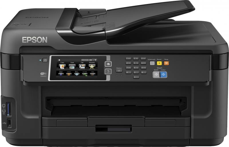 МФУ Epson WorkForce WF-7610DWF цветное А3 32/20ppm 4800x2400dpi Ethernet USB Wi-Fi C11CC98302