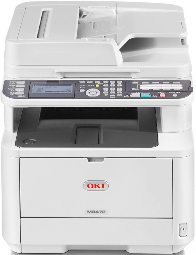 МФУ OKI MB472dnw монохромный ч/б A4 33ppm 1200x1200dpi 512Мб Duplex автоподатчик копир сканер факс E