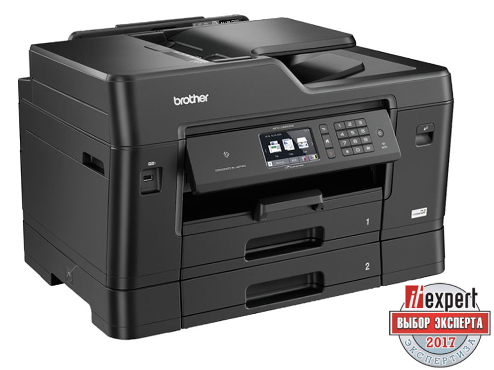 МФУ Brother MFC-J3930DW A3, 35/27 стр/мин, 500 листов + 50 листов, Fax, NFC, USB, Ethernet, WiFi, 256MB