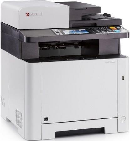 МФУ Kyocera Ecosys M5526cdn цветное/лазерное A4, 26 стр/мин, 300 листов, duplex, Fax, Ethernet, USB, 512MB мфу kyocera ecosys m2640idw a4 duplex wifi 1102s53nl0 469817 лазерный белый серый