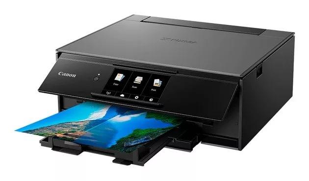 МФУ Canon PIXMA TS9140 (струйный, принтер, сканер, копир, Bluetooth, WiFi, AirPrint, duplex, Сенсорный дисплей) принтер струйный мфу epson l222