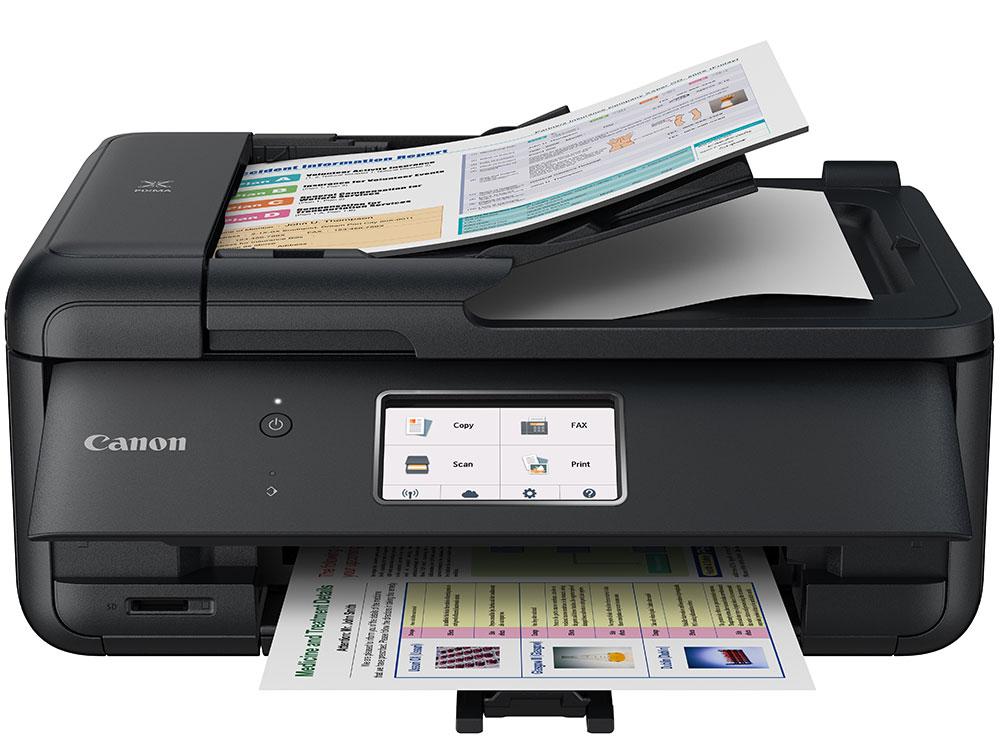 МФУ Canon PIXMA TR8540 (струйный, принтер, сканер, копир, 4800dpi, Bluetooth, WiFi, AirPrint, ADF, duplex, Сенсорный дисплей)