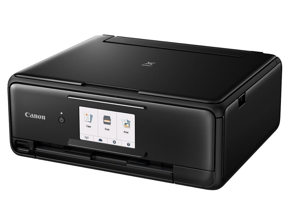 МФУ Canon PIXMA TS8140 Black (струйный, принтер, сканер, копир, Bluetooth, WiFi, AirPrint, duplex, Сенсорный дисплей) цена и фото