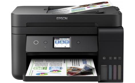 МФУ EPSON L6190 A4, 15 стр/мин, 250 листов + 30 листов, USB, Ethernet, WiFi мфу epson l3050 a4 33 стр мин 100 листов usb wifi