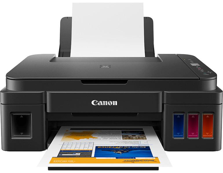 МФУ Canon PIXMA G2410 (Струйный, СНПЧ, 4800x1200, 8,8 изобр./мин для ч/б, 5,0 изобр./мин для цветной, A4, A5, B5, LTR, конверт, фотобумага: 13x18 см,