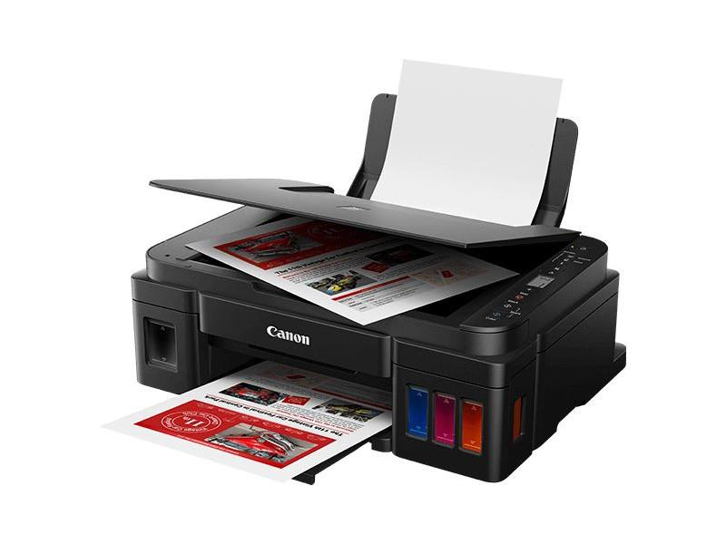 МФУ Canon PIXMA G3410 (Струйный, СНПЧ, WiFi, 4800x1200, 8,8 изобр./мин для ч/б, 5,0 изобр./мин для цветной, A4, A5, B5, LTR, конверт, фотобумага: 13x1