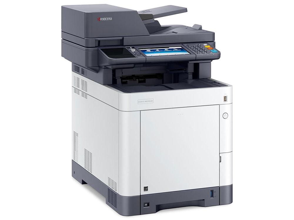 МФУ Kyocera Ecosys M6230cidn цветное/лазерное A4, 30/30 стр/мин, 75 листов, duplex, USB, Ethernet, 1024MB мфу kyocera ecosys m2640idw a4 duplex wifi 1102s53nl0 469817 лазерный белый серый