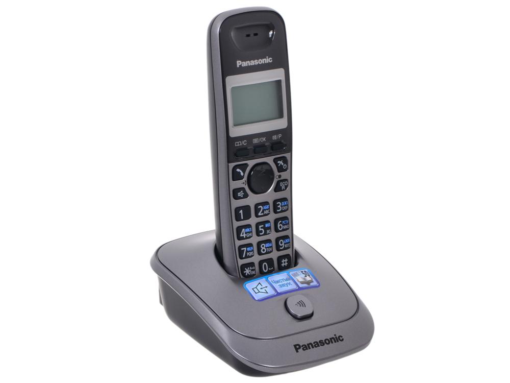 Телефон DECT Panasonic KX-TG2511RUM телефон ip dect panasonic kx tpa60rub sip трубка цифр ip телефон