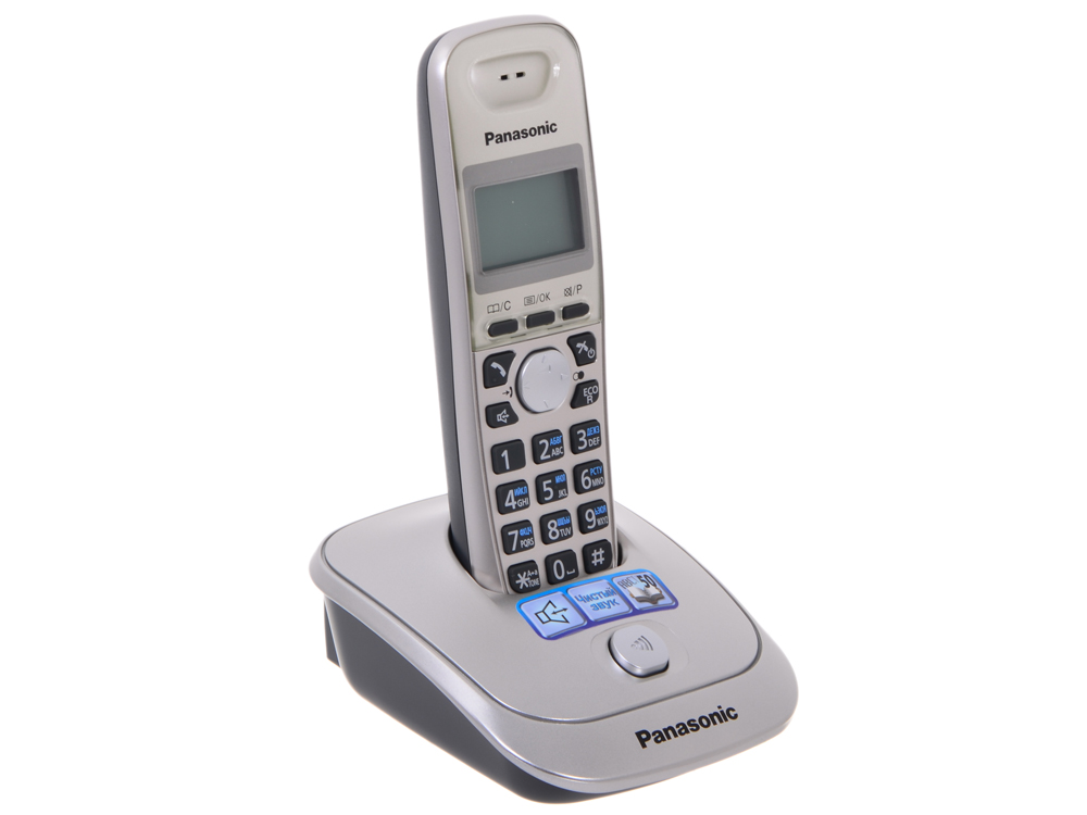 Телефон DECT Panasonic KX-TG2511RUN телефон беспроводной dect panasonic kx tg6821rum серый металлопласт