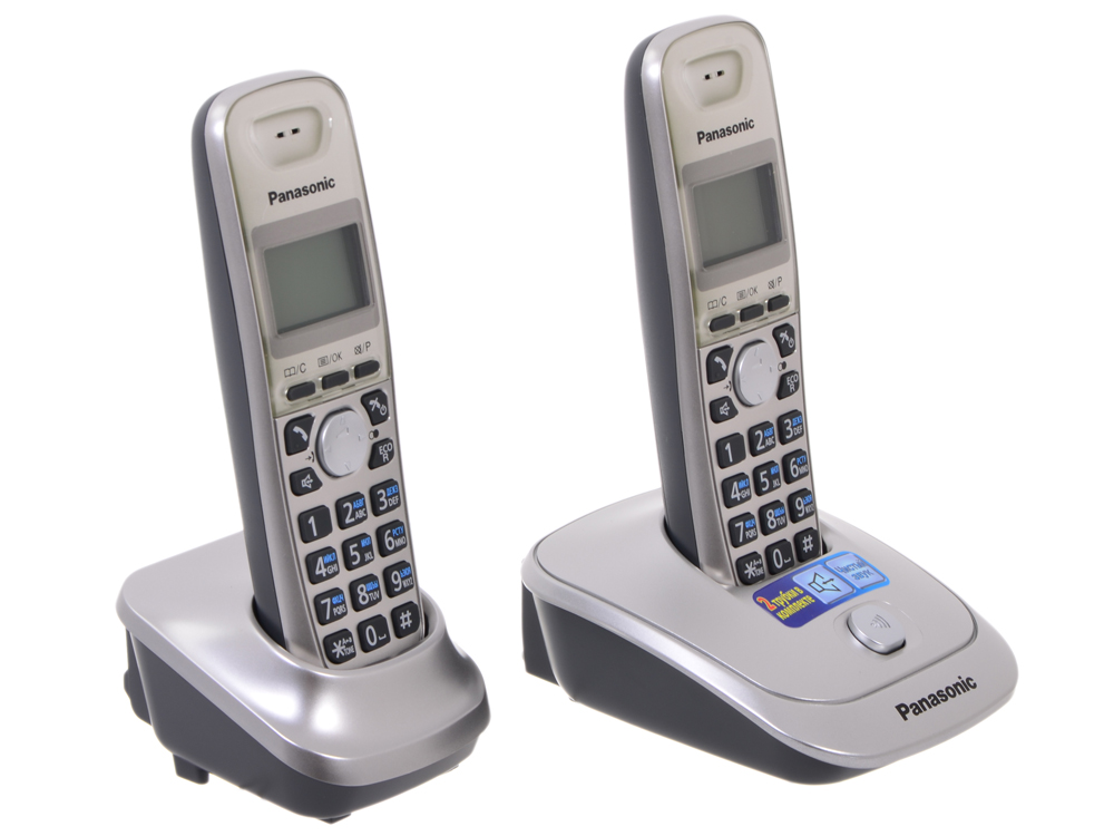 Телефон DECT Panasonic KX-TG2512RUN телефон беспроводной dect panasonic kx tg6821rum серый металлопласт
