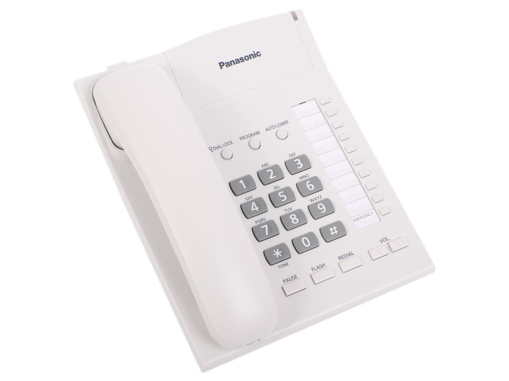 Телефон Panasonic KX-TS2382RUW Спикер, память 20 телефон panasonic kx dt546rub черный