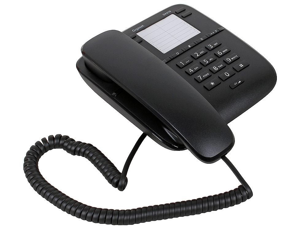 Телефон Gigaset DA310 Black (проводной) телефон проводной texet tx 201 белый