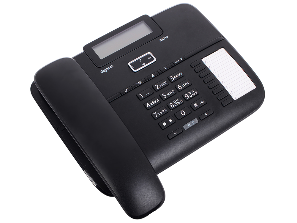 Телефон Gigaset DA710 Black (проводной, ЖКИ, АОН) airhole маска airhole airtube ergo check