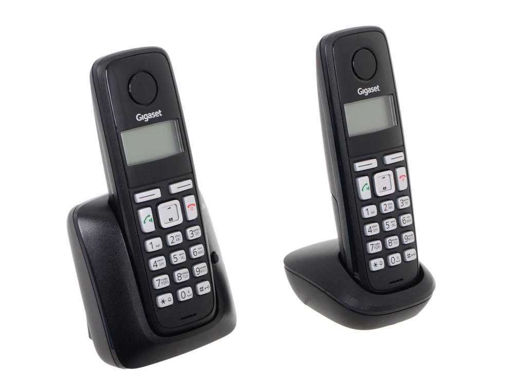 Телефон Gigaset А220A Duo Black (DECT, автоответчик, две трубки)