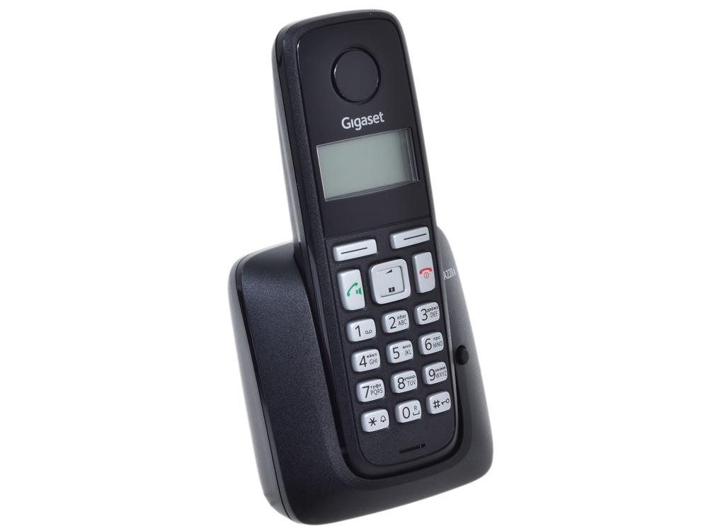 Телефон Gigaset А220A Black (DECT, автоответчик) проводной и dect телефон gigaset c810a siemens c810aip