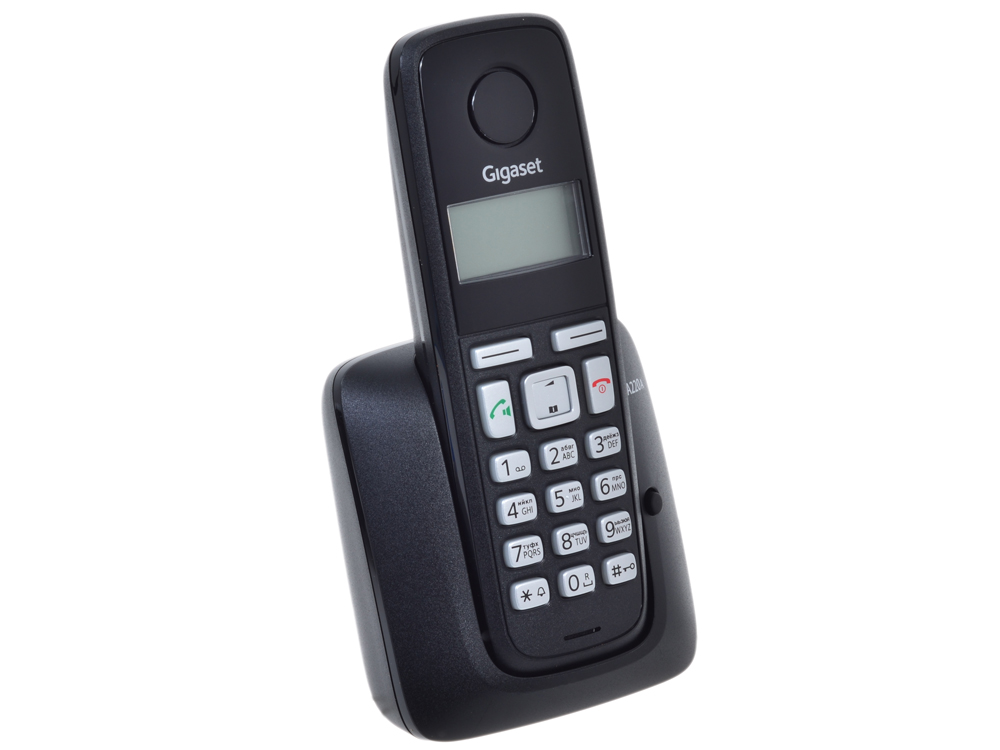 Телефон Gigaset А220A Black (DECT, автоответчик)