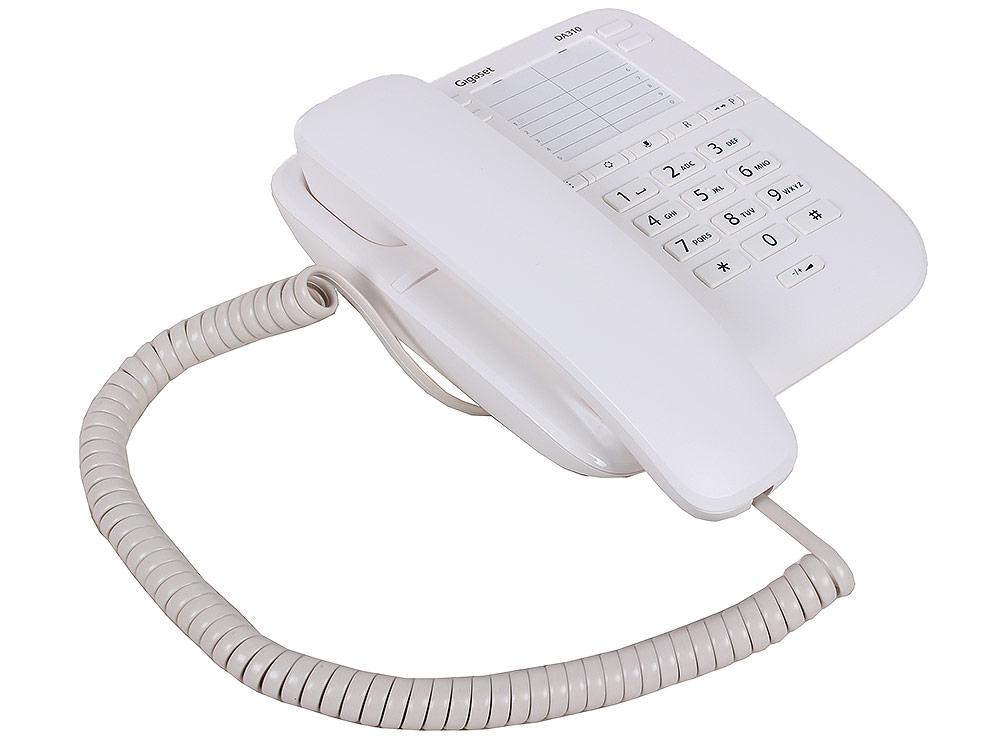 Телефон Gigaset DA310 White (проводной) телефон проводной gigaset da310 white