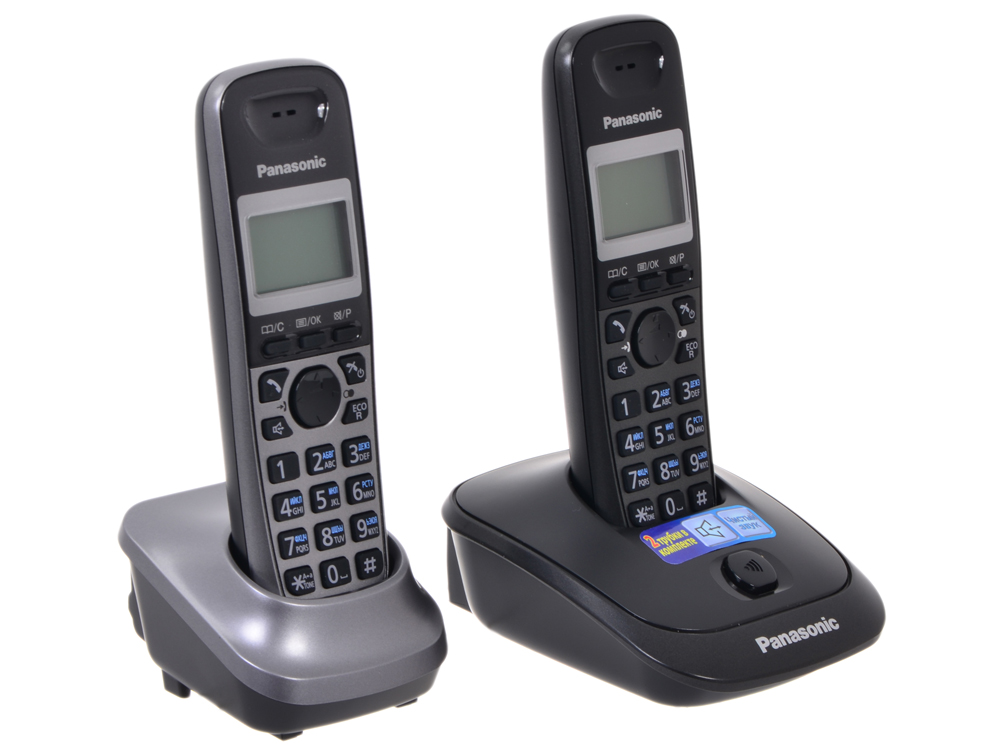 Телефон DECT Panasonic KX-TG2512RU2 panasonic kx tg2512ru2 dect phone additional handset included eco mode time date display communication between handsets