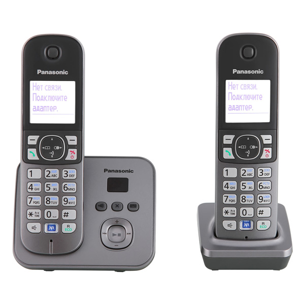 Телефон DECT Panasonic KX-TG6822RUM автоответчик Функция радио-няня телефон dect yealink w52h dect дополнительная sip трубка