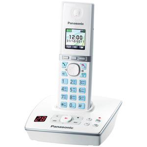 Фото Телефон DECT Panasonic KX-TG8061RUW АОН, Color TFT, Caller ID 50, Спикерфон, Эко-режим, Радионяня, Автоответчик радиотелефон dect panasonic kx tg6811rub черный