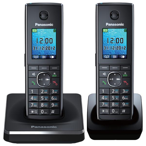 Телефон DECT Panasonic KX-TG8552RUВ АОН, Color TFT, Caller ID 50, Спикерфон, Эко-режим, Радионяня, SMS, Память 350 + дополнительная трубка