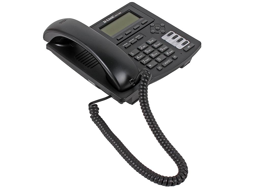 IP - телефон D-Link DPH-150S/F4B IP-телефон с 2-мя портами LAN и поддержкой до двух независимых SIP аккаунтов