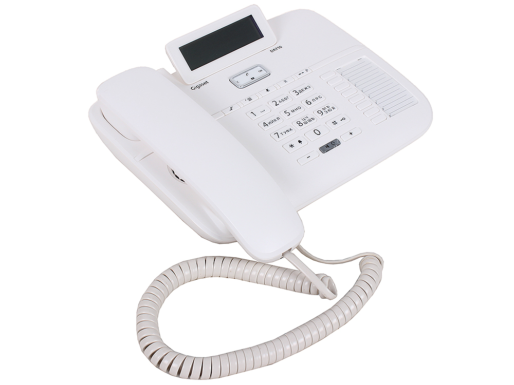 Телефон Gigaset DA710  white (проводной, ЖКИ, АОН) дополнительная трубка gigaset a220h для a220