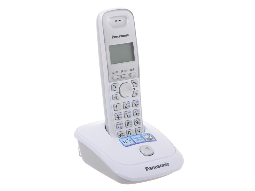 Телефон DECT Panasonic KX-TG2511RUW телефон ip dect panasonic kx tpa60rub sip трубка цифр ip телефон