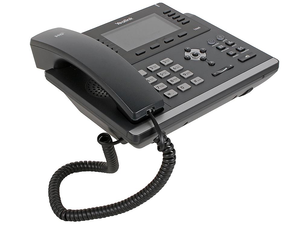 Телефон VoIP Yealink SIP-T46G SIP-телефон, цветной экран, 6 линий, BLF, PoE, GigE, БЕЗ БП