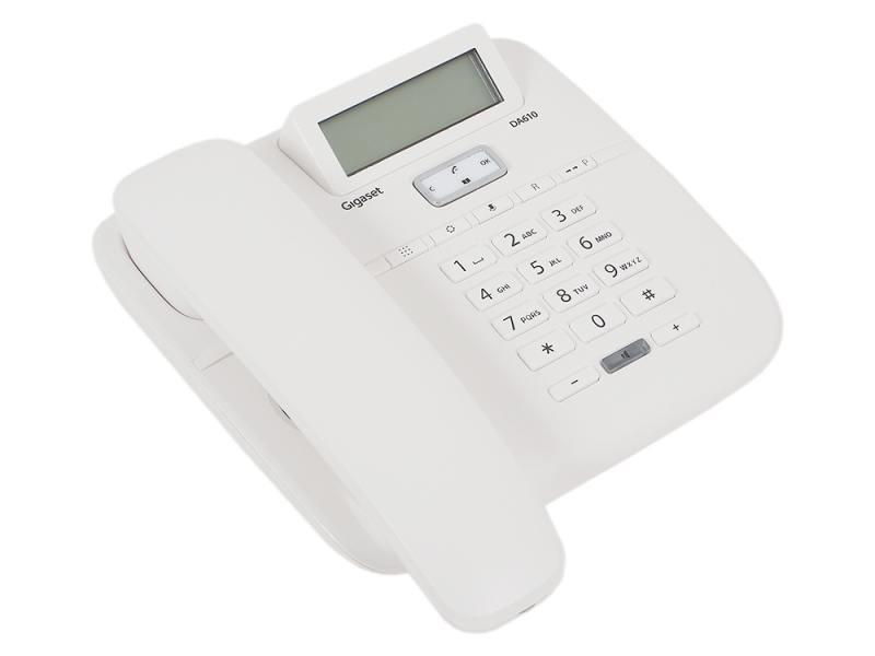 Телефон Gigaset DA610 White (проводной) телефон проводной gigaset da310 white