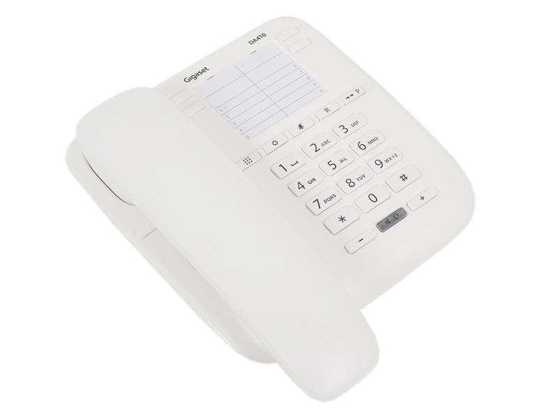 Телефон Gigaset DA410 White (проводной) телефон проводной gigaset da310 white