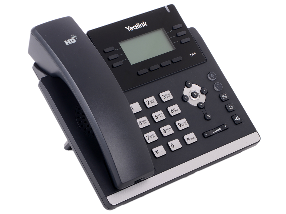 Телефон VoIP Yealink SIP-T41P SIP-телефон, 3 линии, BLF, PoE, БЕЗ БП practical voip security
