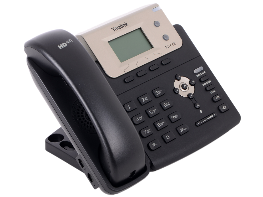 Телефон VoIP Yealink SIP-T21P E2 SIP-телефон, 2 линии, PoE practical voip security