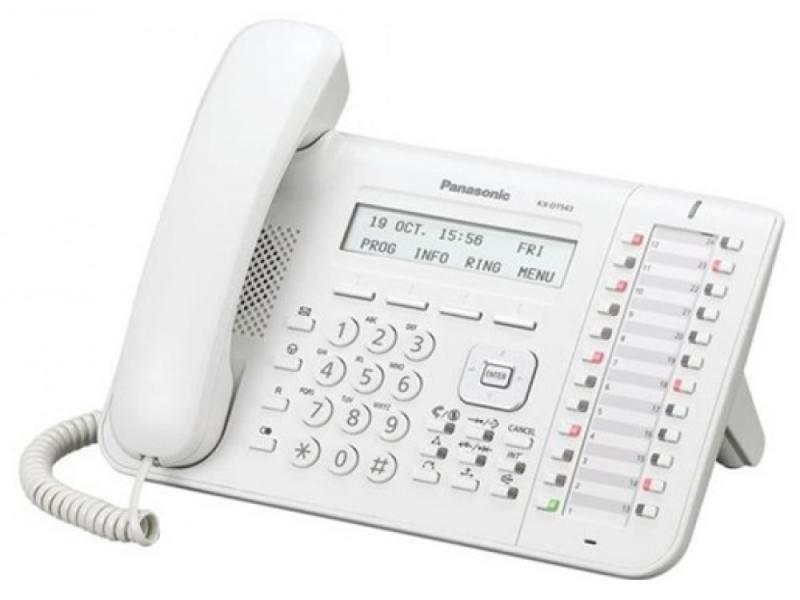 Системный телефон Panasonic KX-DT543RU белый блок расширения panasonic kx ns520ru