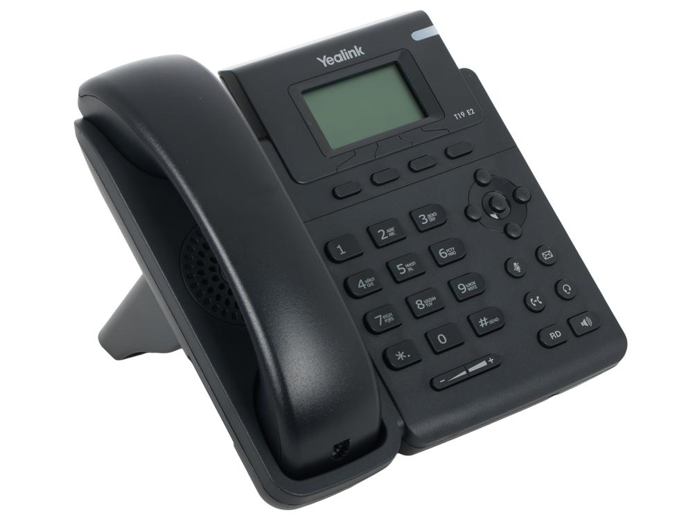Телефон VoIP Yealink SIP-T19 E2 SIP-телефон, 1 линия телефон voip yealink sip t40p sip телефон 3 линии blf poe без бп