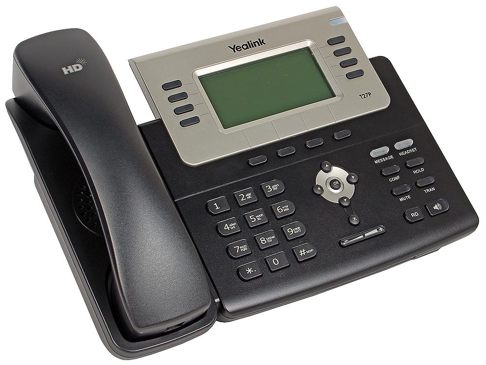 Телефон VoIP Yealink SIP-T27P SIP-телефон, 6 линий, BLF, PoE