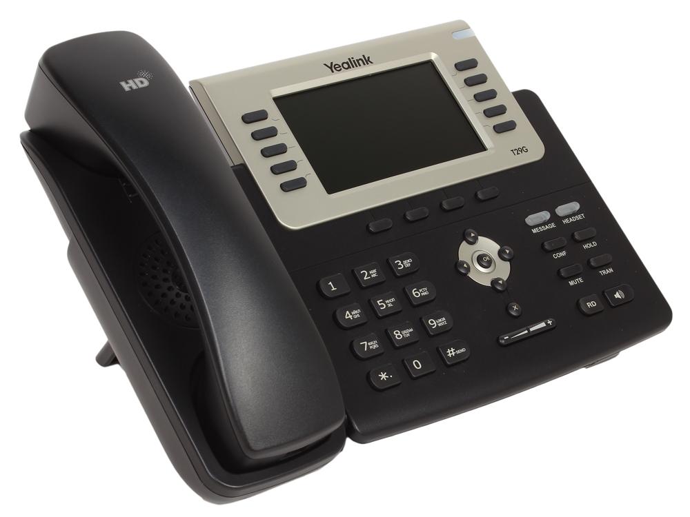 Телефон VoIP Yealink SIP-T29G SIP-телефон, цветной экран, 16 линий, BLF, PoE, GigE