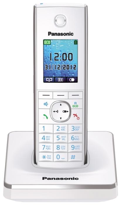 Телефон DECT Panasonic KX-TG8551RUW АОН, Color TFT, Caller ID 50, Спикерфон, Эко-режим, Радионяня, SMS, Память 350