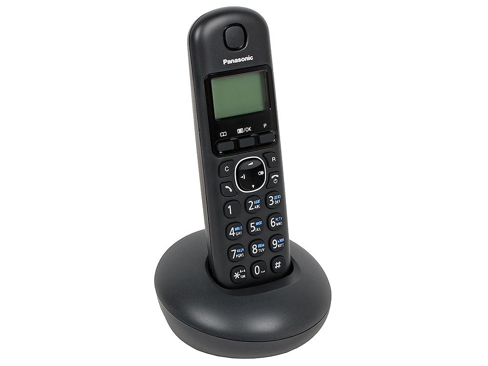 Телефон DECT Panasonic KX-TGB210RUB АОН, Caller ID 50, Эко-режим, Память 50 телефон беспроводной dect panasonic kx tgb210rub black