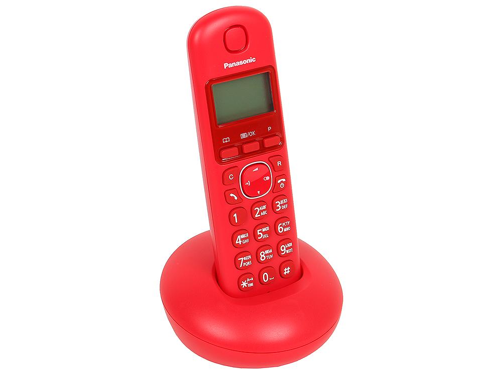 Телефон DECT Panasonic KX-TGB210RUR АОН, Caller ID 50, Эко-режим, Память 50 телефон ip dect panasonic kx tgp500b09 sip цифр ip телефон voip ethernet upto 6 hset память 100 звук hd