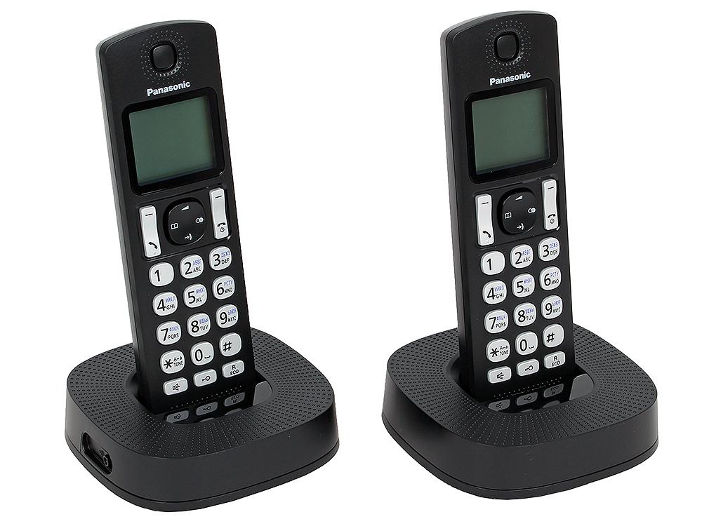Фото Телефон DECT Panasonic KX-TGC322RU1 АОН, Caller ID 50, Эко-режим, Память 50, Black-List, Автоответчик + дополнительная трубка радиотелефон dect panasonic kx tg6811rub черный