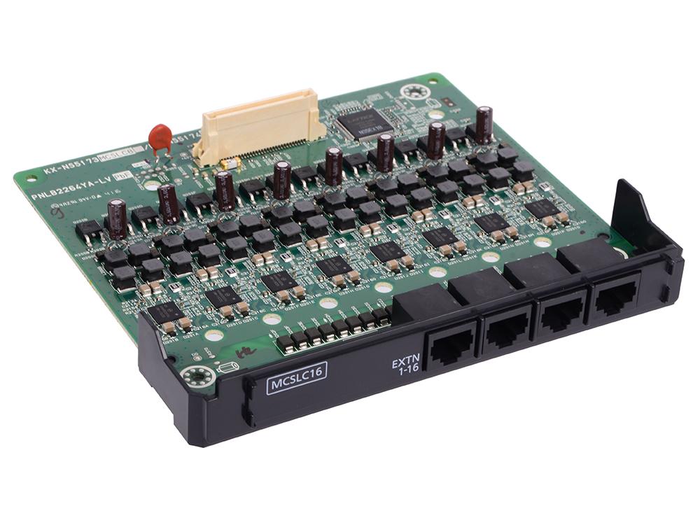 Плата расширения Panasonic KX-NS5174X 16-портовая аналоговых внутренних линий MCSLC16 PRI30/E1 плата расширения panasonic kx ns5171x