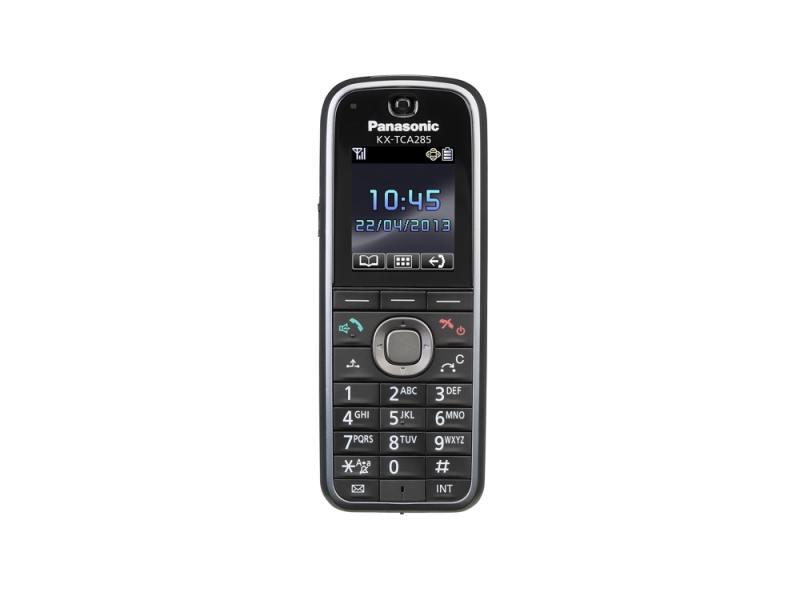 Дополнительная микросотовая трубка Panasonic DECT KX-TCA285RU черный радиотелефон dect panasonic kx tgh212rub дополнительная трубка kx tgha20 черный