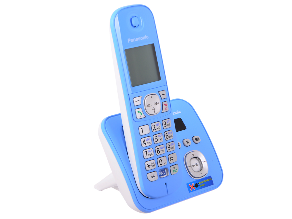 где купить Телефон DECT Panasonic KX-TG6821RUF автоответчик АОН, Caller ID 50, Спикерфон, Эко-режим, Радионяня дешево