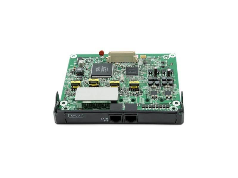 Плата расширения Panasonic KX-NS5170X 4-портовая плата цифровых гибридных внутренних линий DHLC4 атс panasonic kx tem824ru аналоговая 6 внешних и 16 внутренних линий предельная ёмкость 8 24 линий