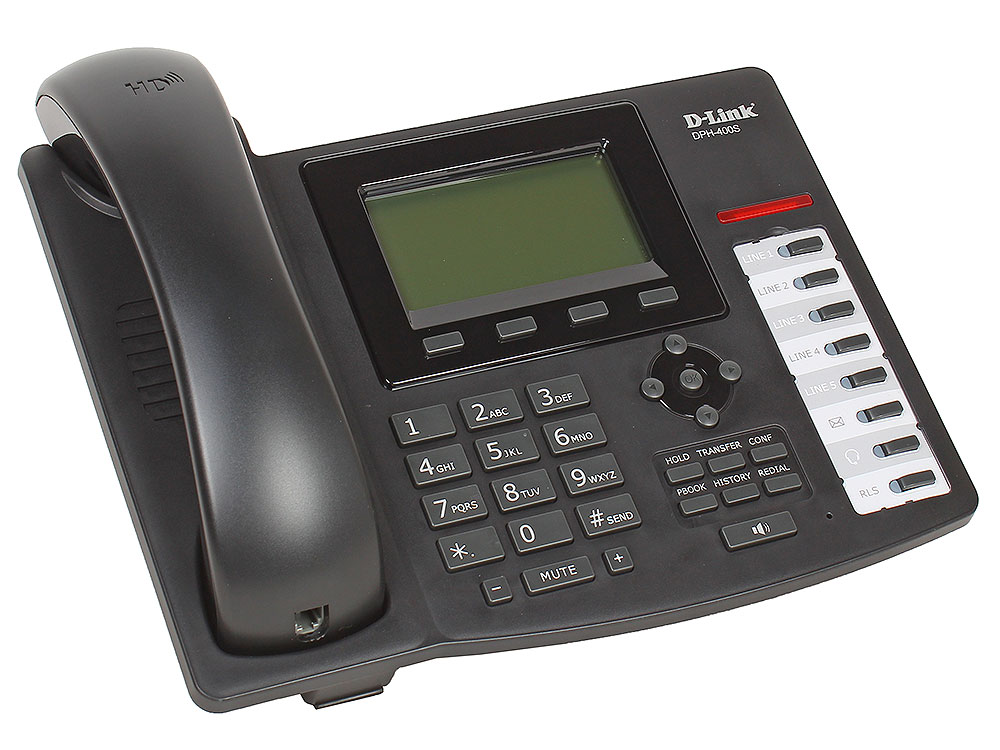 IP - телефон D-Link DPH-400S/F4A IP-телефон с 1 WAN-портом 10/100Base-TX и 1 LAN-портом 10/100Base-TX