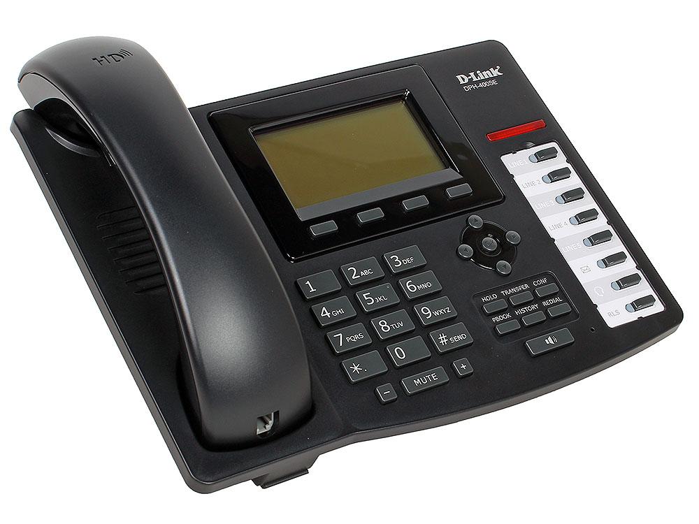 IP - телефон D-Link DPH-400SE/E/F3 IP-телефон с 1 WAN-портом 10/100Base-TX , 1 LAN-портом 10/100Base-TX и поддержкой PoE