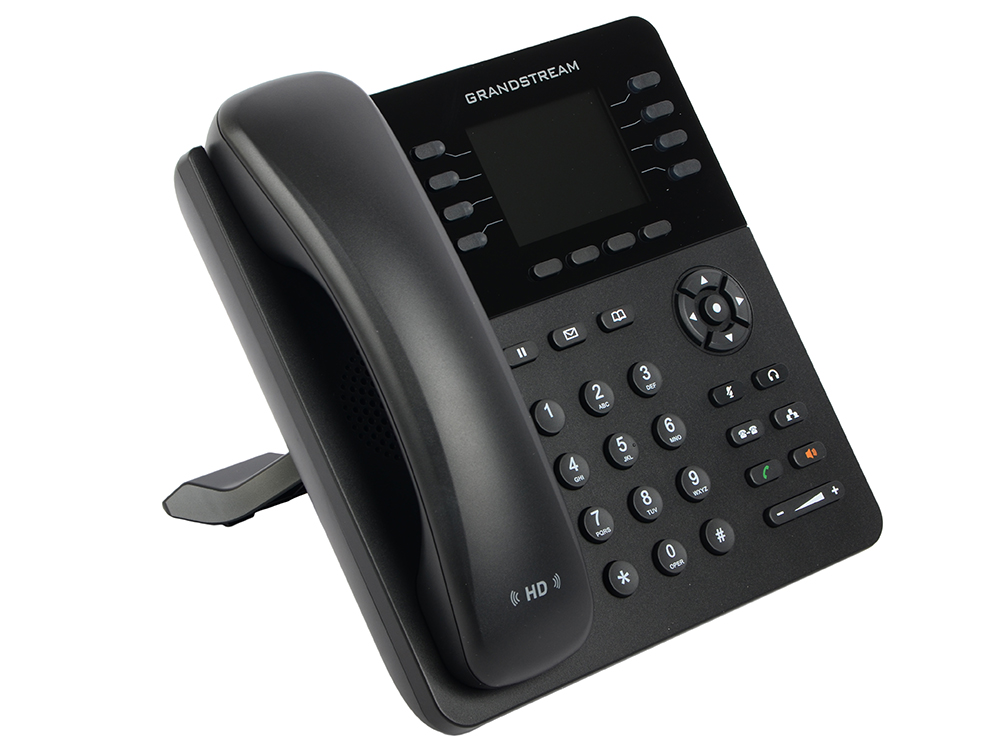 Телефон IP Grandstream GXP-2135 8 линий 4 SIP-аккаунта 2x10/100/1000Mbps LCD PoE телефон ip grandstream gxp 1450 2 линии 2x10 100mbps lcd poe