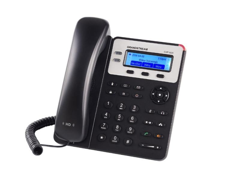 Телефон IP Grandstream GXP-1620 2 линии 2 SIP-аккаунта 2x10/100Mbps LCD